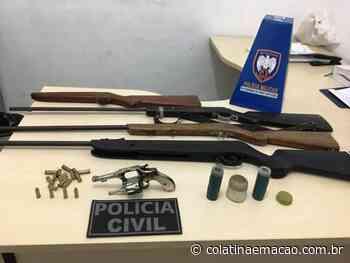 Suspeitos de posse ilegal de arma de fogo são presos em Ecoporanga-ES - Colatina em Ação