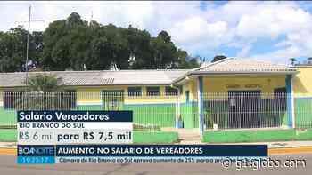 Moradores reclamam após Câmara de Rio Branco do Sul aumentar salários dos vereadores em 25% - G1
