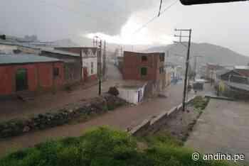 Lluvias moderadas a fuertes se registraron en distrito tacneño de Candarave - Agencia Andina