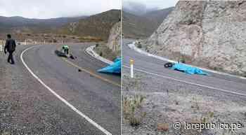 Tacna: Motociclista fallece tras chocar con combi en carretera Ticaco – Candarave - LaRepública.pe