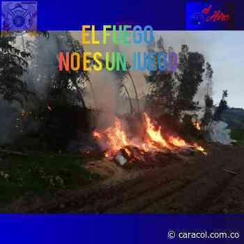 Descubra las consecuencias de las quemas indiscriminadas en Samacá - Caracol Radio