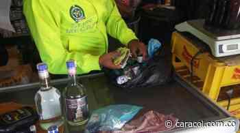 Incautan botellas de Whisky adulterado en Samacá, Boyacá - Caracol Radio