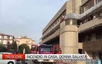 Trescore Balneario, incendio in casa: salvata donna 55enne - L'Eco di Bergamo