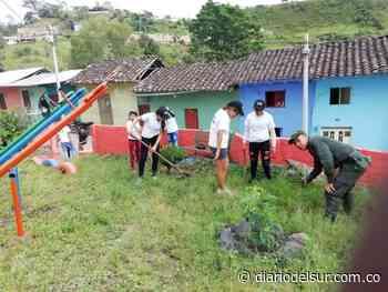 Estudiantes adecuaron parques en Taminango - Diario del Sur