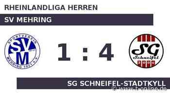 SV Mehring gegen SG Schneifel-Stadtkyll: Pidde ist dreimal zur Stelle - t-online.de