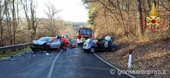 Incidente ad Alzate Brianza: due feriti FOTO - Giornale di Como
