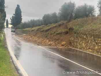 San Casciano Val di Pesa: frana in via Empolese. Muro crollato - Firenze Post
