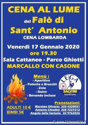 Marcallo con Casone: per Sant'Antonio ritorna la cena a lume di falò - Ticino Notizie