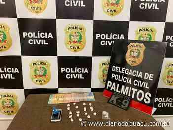 Suspeito de liderar a venda de cocaína em Palmitos é preso - Portal DI Online