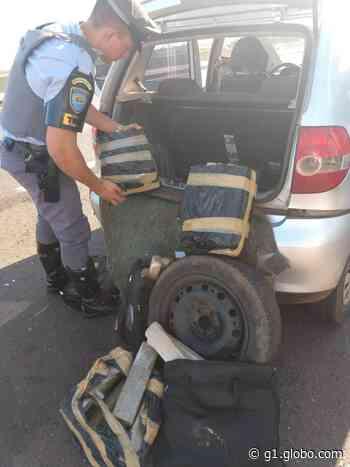 Veículo carregado de maconha é apreendido pela Polícia Rodoviária, em Presidente Venceslau - G1