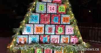 Ile-a-la-Crosse, Sask. woman builds Advent calendar for entire village - Global News