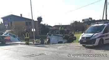 Pocenia, scontro frontale auto-furgone: un mezzo finisce ribaltato Foto - Il Gazzettino