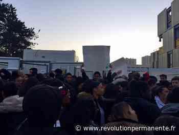 Blocage du lycée Jacques Feyder d'Epinay-sur-Seine contre le bac Blanquer - http://www.revolutionpermanente.fr/Section-Politique
