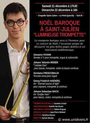 Concert de Noël baroque « Lumineuse trompette » Chapelle Saint-Julien Le Petit-Quevilly 21 décembre 2019 - Unidivers