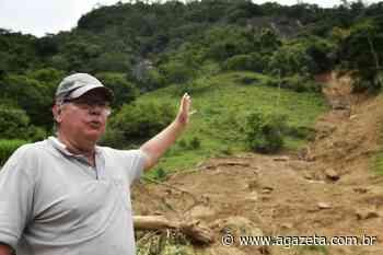 Aposentado conta como se salvou de deslizamento em Muniz Freire - A Gazeta ES