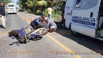 Motociclista arrollado por camioneta termina con fractura expuesta, en Cosamaloapan - alcalorpolitico