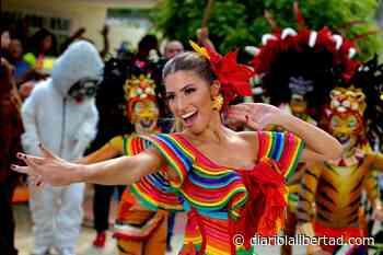Entre danzas y comparsas, Isabella Chams graba su canción oficial en Galapa - Diario La Libertad