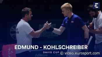 Highlights: Edmund storms past Kohlschreiber to give GB lead - Eurosport.com