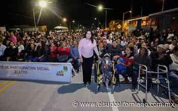 Entrega Armida Castro obras en Vista Hermosa - El Sudcaliforniano