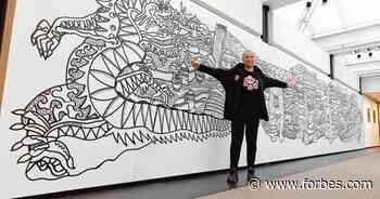 Artist Max Goshko-Dankov Unveils The Great Coloring Wall In Beijing - Forbes
