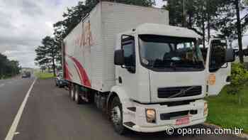 Caminhão carregado de cigarros contrabandeados é apreendido em Laranjeiras do Sul - O Paraná