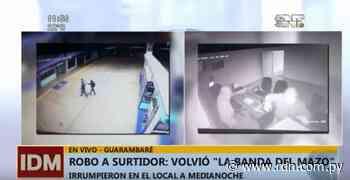 """""""Ladrones del mazo"""" asaltan estación de servicio en Guarambaré - Resumen de Noticias"""