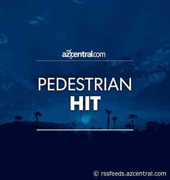 Man in critical condition after being hit by vehicle in Glendale