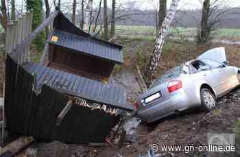 Autofahrer zerlegt Wartehäuschen in Nortrup - Grafschafter Nachrichten