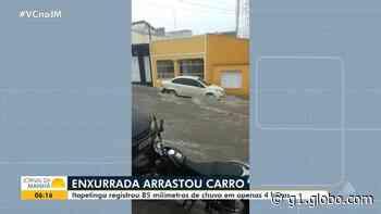 VÍDEO: Enxurrada arrasta carro durante temporal em Itapetinga - G1