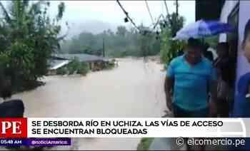 San Martín: fuertes lluvias afectan al distrito de Uchiza - El Comercio - Perú