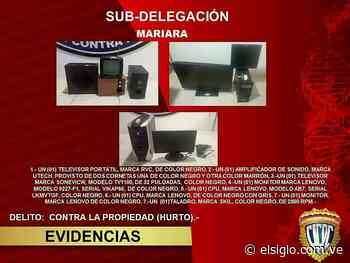 Desmantelada banda dedicada al robo y hurto de viviendas en Mariara elsiglocomve - Diario El Siglo