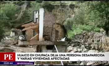 Viviendas se desmoronan en Chupaca tras huaico - El Comercio - Perú