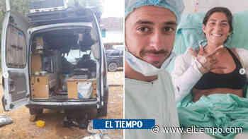 Casa rodante explotó y quemó a pareja argentina que viaja por Colombia - El Tiempo