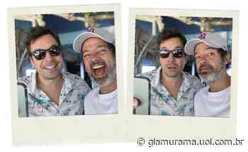 """Bruno Mazzeo vira tiete em encontro com Jimmy Fallon: """"Aproveitei pra zerar a vida"""" - Glamurama"""