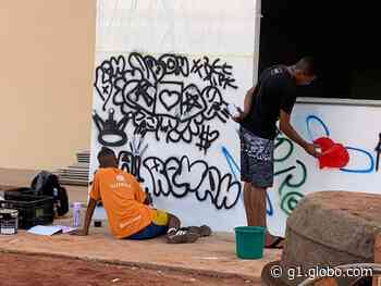 Projeto mostra o grafite como proposta cultural para adolescentes em Frutal - G1