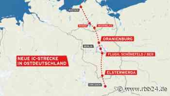 Ab 15. Dezember: Oranienburg und Elsterwerda haben mit neuer Strecke IC-Anschluss - rbb|24
