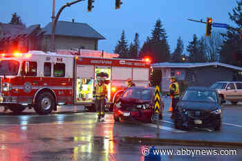 Head-on crash at Clearbrook and Peardonville intersection in Abbotsford - Abbotsford News
