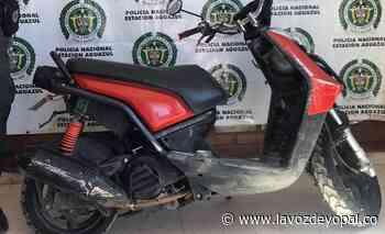 Policía recuperó una motocicleta en Aguazul - Noticias de casanare - La Voz De Yopal