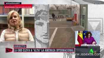 """María Neira, sobre si la OMS declarará la emergencia internacional: """"Si se cumplen los criterios, no nos temblará la mano"""" - LaSexta"""