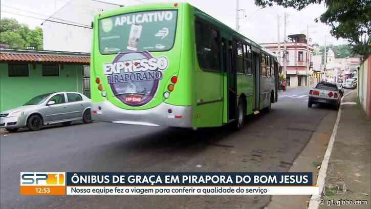 Pirapora do Bom Jesus inicia operação de ônibus com tarifa zero, na Grande SP - G1