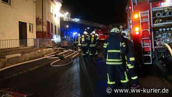 Brand einer ehemaligen Gaststätte in Meudt - WW-Kurier - Internetzeitung für den Westerwaldkreis