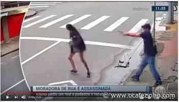 Vídeo: moradora de rua é assassinada em Niteroi - O Cafezinho