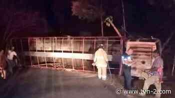 Camión se vuelca en Macaracas y deja una persona herida - TVN Panamá