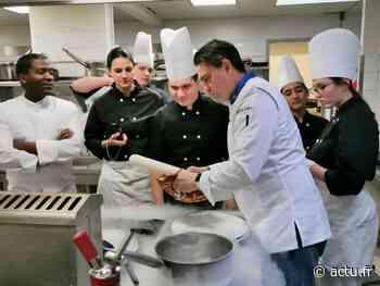 Seine-et-Marne. Roissy-en-Brie : un chef étoilé dispense un cours de cuisine moléculaire au lycée Les Sinoplies - actu.fr
