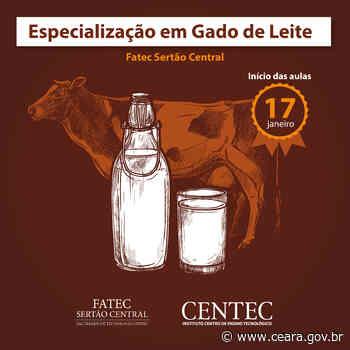 Centec oferece especialização em gado de leite em Quixeramobim - Ceará