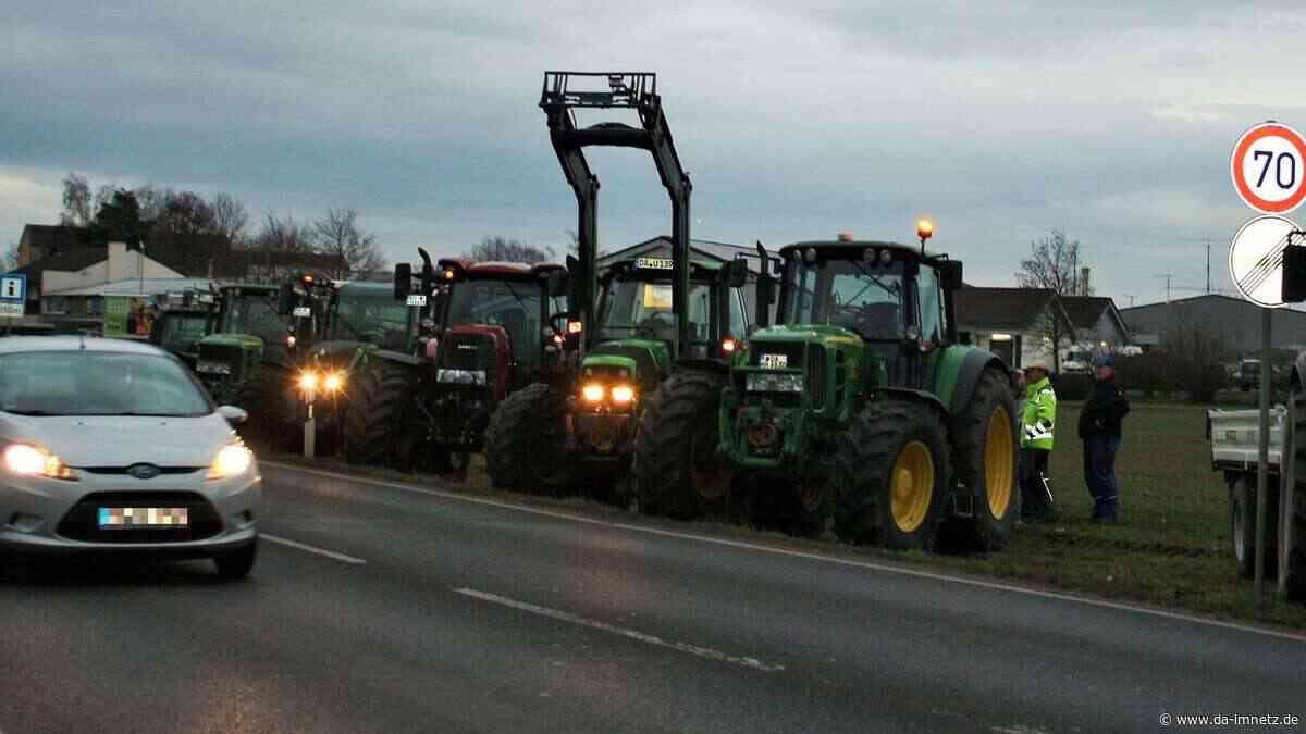 Babenhausen (Hessen): Bauernprotest an der B26 | Babenhausen - da-imnetz.de