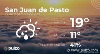 El clima para hoy en San Juan de Pasto, 22 de diciembre de 2019 - Pulzo