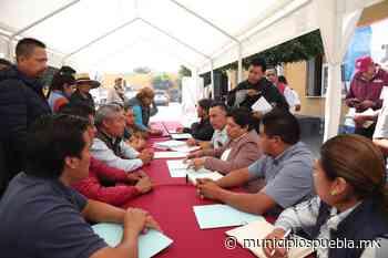 Pérez Popoca arranca Jornadas de Presupuesto Participativo Tlaxcalancingo - Municipios Puebla