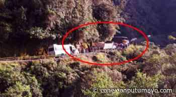 Volqueta estuvo a punto de irse al abismo en la vía Mocoa – Pasto - Conexión Putumayo