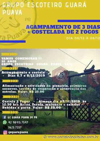 Grupo Escoteiro 'Guara Puava' comemora 35 anos com evento especial - Correio do Cidadão